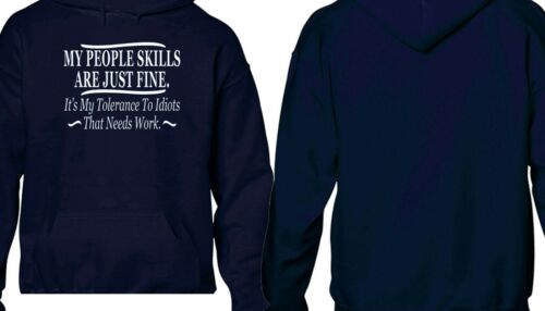 3293 Sarcastic My People Skills Are Just Fine Hoodie Funny