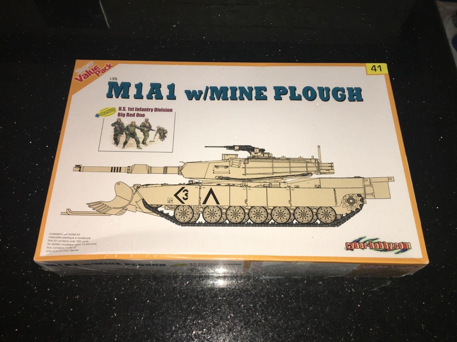 Cyber hobby; 9141 MA1 Abrams Tank MINE PLOGH Dragon Models 1 35