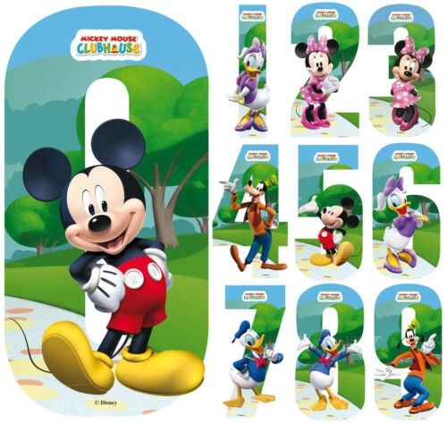 Disney Minnie & Mickey Mouse Number Stickers Wall Wheely Wheelie Bin Decal Toys