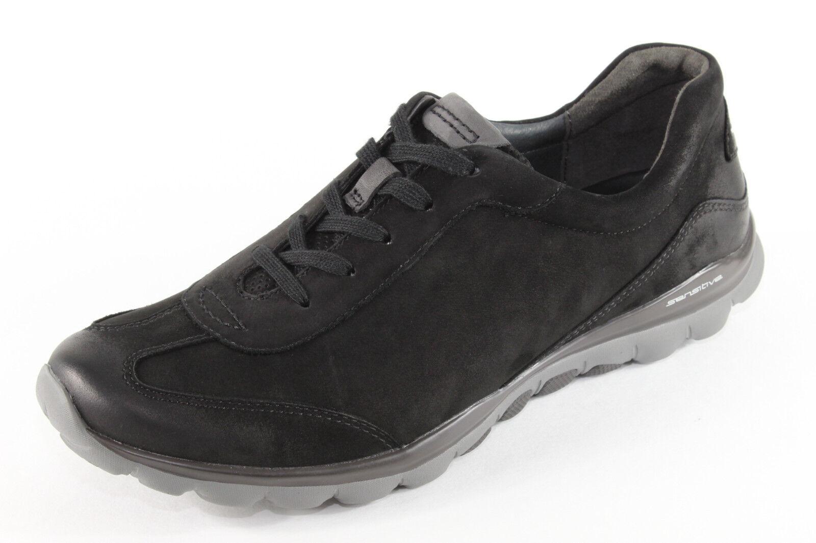Rollingsoft 965.47, Wellnesschuhe aus aus aus schwarzem Nubuk, Damenschuhe Übergröße bc8e8c