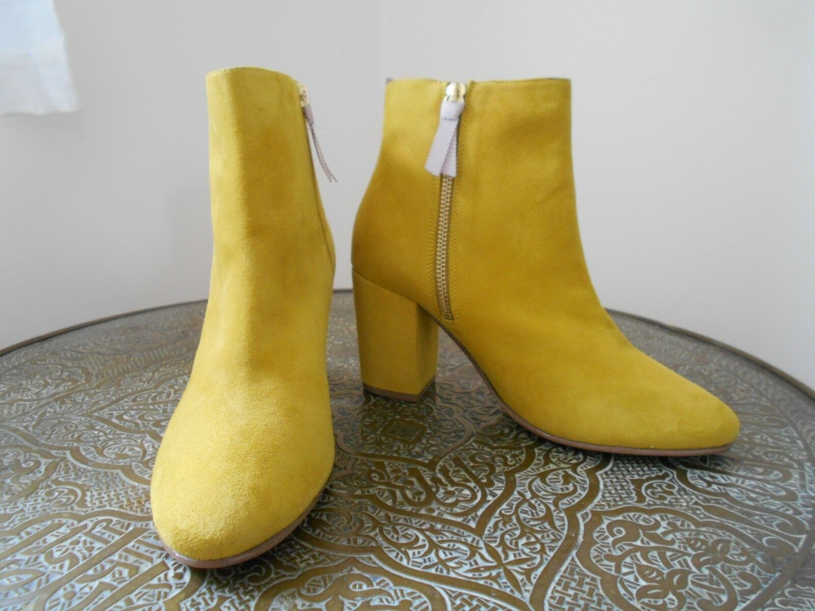 BODEN  New  Etta Ankle Boots - - - Yellow Suede - Size 38/5 - This Year - Sold Out f8d447