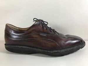 Mephisto-Goodyear-Welt-Brown-Lace-Oxford-Abel-Mens-Shoes-Size-11-Bicycle-Toe