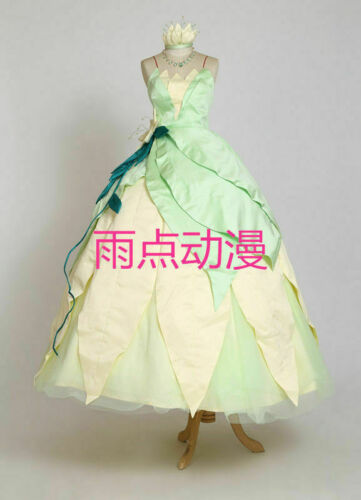 Tiana adult costume princess and frog cosplay dress