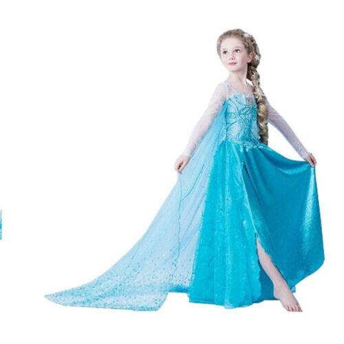 Adult Kids Elsa Frozen Princess Fancy Dress Queen Costume