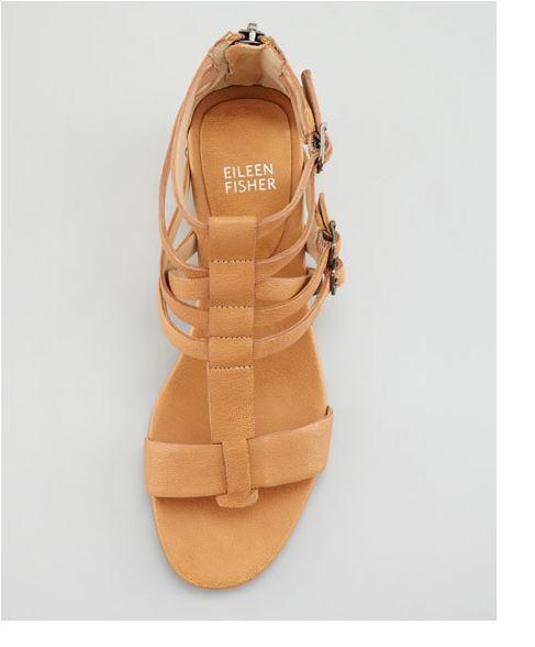 Eileen Fisher Echo Marronee Chestnut Chestnut Chestnut Wedge Gladiator Zip Buckle scarpe 8, 8.5 10, 11 5e5176