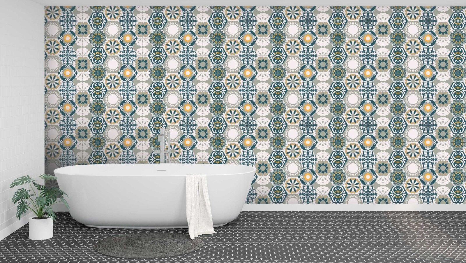 3D Hübsch Blaumen Kunst 3 Textur Fliesen Marmor Tapete Abziehbild Tapete Wandbild