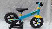 Ultimate Hardware Childs Kids Brave Training Balance Bike Bicycle Blue & Yellow