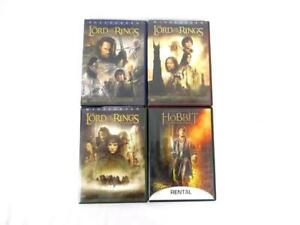 Lord of the Rings Movies DVD Trilogy plus The Hobbit Desolation of Smaug