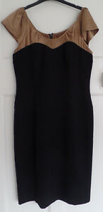 Star-by-Julien-Macdonald-Ladies-Black-amp-Brown-Dress-size-14