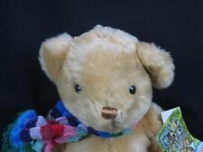 BIG NEW COMMONWEALTH LIGHT BROWN WINTER TEDDY BEAR RAINBOW SCARF PLUSH STUFFED