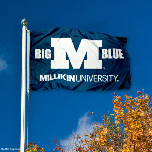 Millikin University Big Blue Flag MU Large 3x5