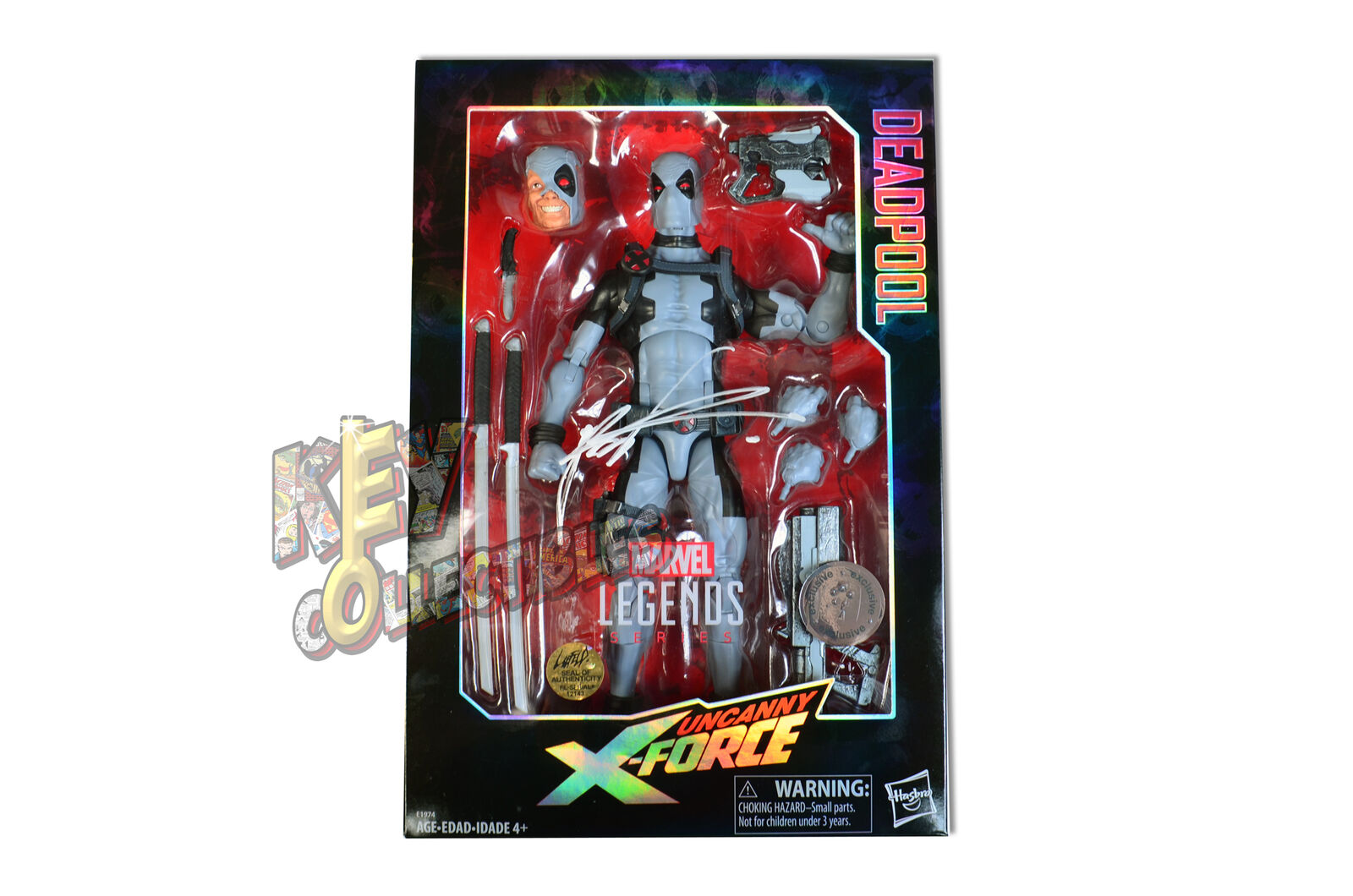 Toys R Us Marvel Legends X-Force DEADPOOL 12  Figure - SIGNED BY ROB LIEFELD