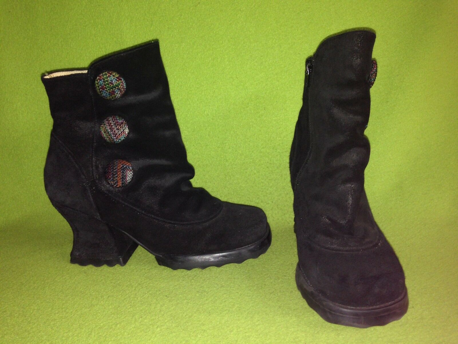 Black Fluevog Stop It Halt Boots 8