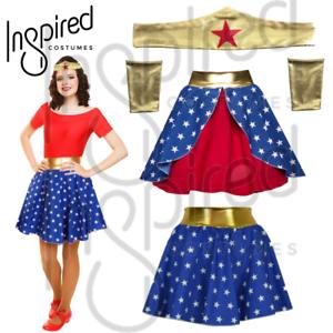 c66695f5ff3 Image is loading GIRLS-Superhero-Tiara-HEADBAND-GAUNTLET-CUFF-Fancy-Dress-
