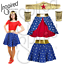 GIRLS Superhero Tiara HEADBAND GAUNTLET CUFF Fancy Dress Superhero Woman Costume