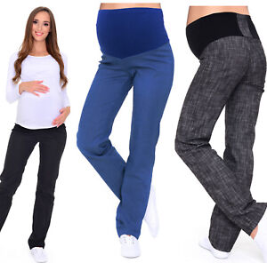 771f39303262b Image is loading Maternity-Trousers-Jeans-classic-straight-cut-Denim-Over-