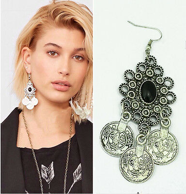Vintage Bohemia Charm Party Coin Drop Dangle Long Geometry Earrings jewelry New