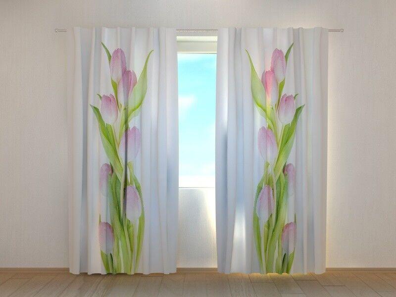 Fotogardinen  Tulpen  Fotovorhang Vorhang Gardinen 3D 3D 3D Qualität Bild, Nach Maß   Elegant  f411ff