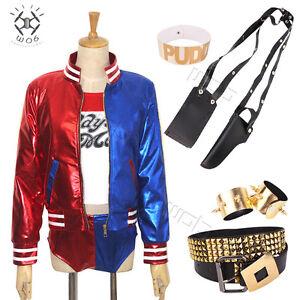 Harley-Quinn-Suicide-Squad-Damas-Ninas-Vestido-de-Fantasia-Disfraz-TALLAS-S-XXL