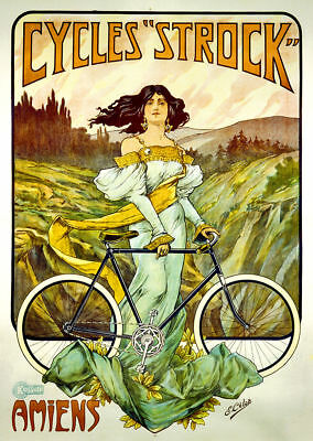 18x24 Cycles Humber Vintage Style Bicycle Advertising Poster