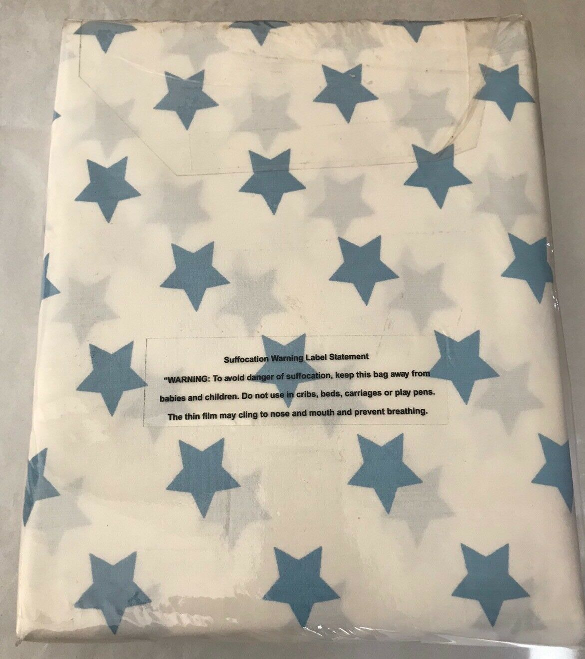 """The company store duvet Cover Full Queen 100% Cotton 88""""x86"""" Sky bluee Stars New"""