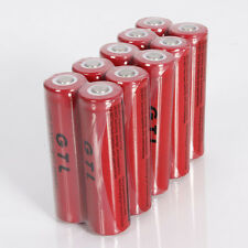 50pcs GTL 18650 3.7V 5300mAh High Energy Rechargeable Battery for LED Torch Toys