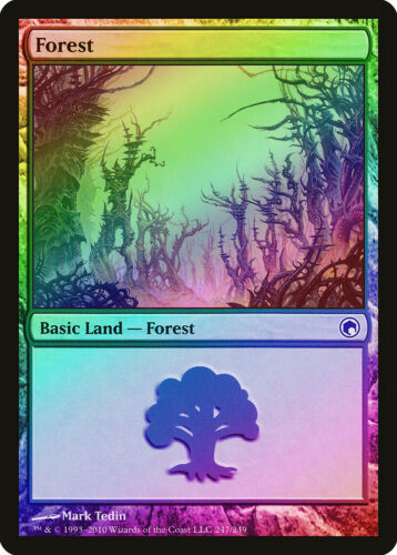 FOIL Scars of Mirrodin NM-M Basic Land MAGIC MTG CARD ABUGames 247 Forest