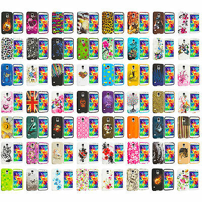 For Samsung Galaxy S5 SV TPU Design Soft Rubber Silicone Skin Case Cover