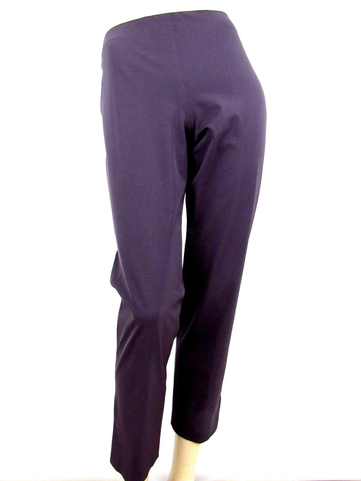 GUNEX violet extensible coton mélangé longu cheville Pantalon Taille 6