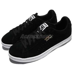 1c90bb5d42f Puma Court Star Suede Black White Gold Men Casual Shoes Sneakers ...