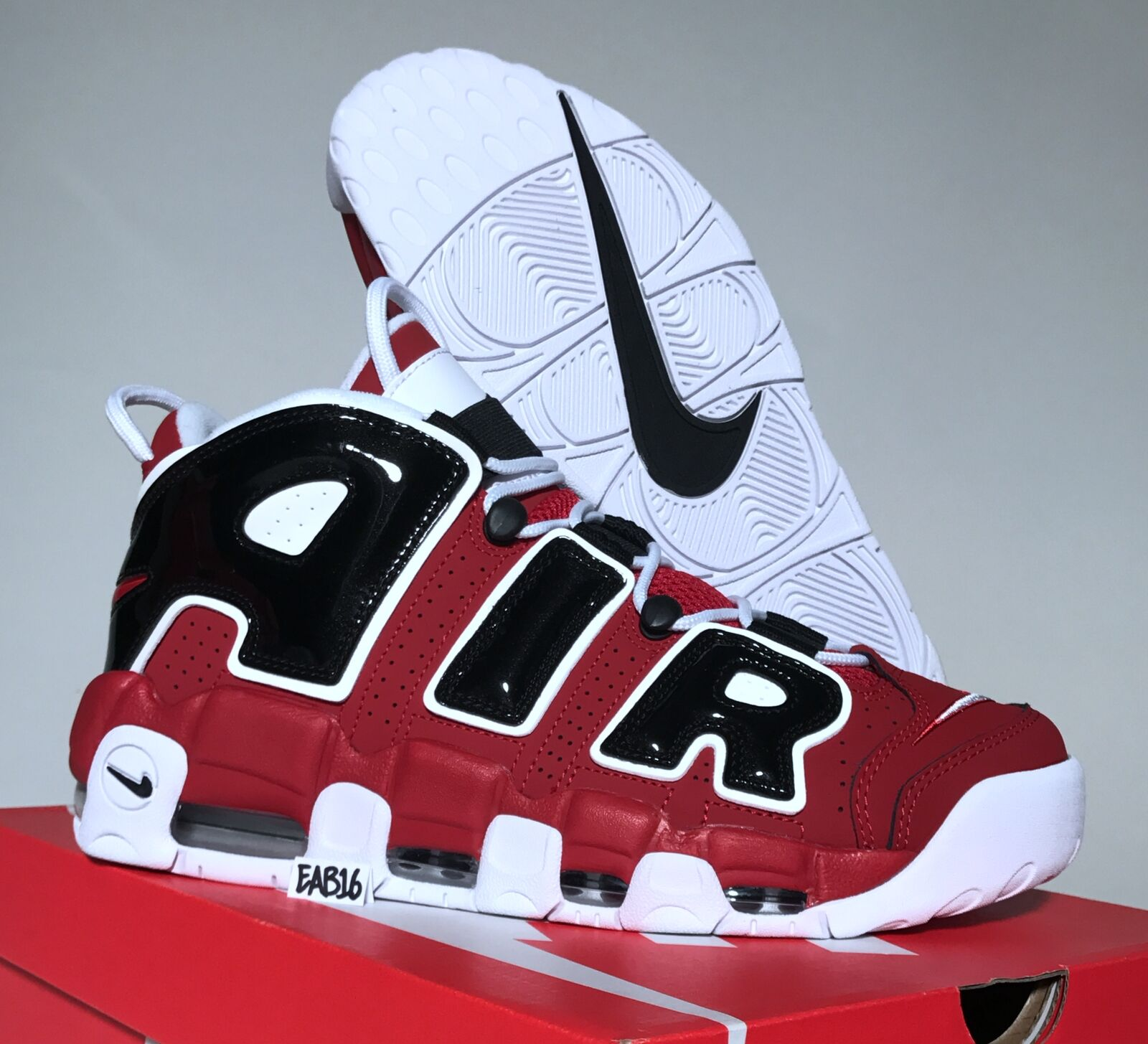 NIKE AIR MORE UPTEMPO '96 Red Black Asia Hoop 921948 600 Chicago Bulls Pippen Brand discount