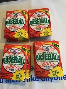 Lot-of-19-1982-Topps-Baseball-Unopened-Wax-Packs-Cal-Ripken-Rookie