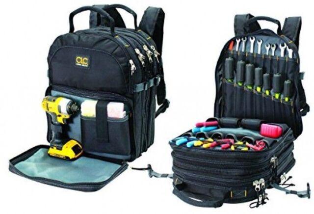 Electrician Tool Backpack Bag Technician Organizer 75 Pocket HVAC Tech Mechanic