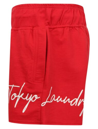 Tokyo Laundry Ladies Womens Loopback Fleece Sweat Shorts Red or Navy