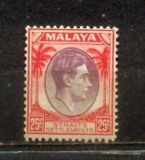 1937 Malaya Malaysia Straits Settlements 25c Mint Hinged CV 165