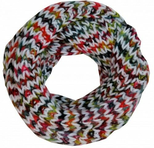 Sonia Originelli Loop Schal Polyacryl Regenbogen Bunt Winter Neu
