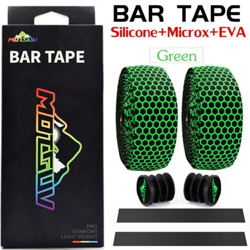 Drop Handlebar Tape Silica EVA White Wrap Bicycle Silicone Bar Tape Road Bike