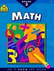 Math Grade 3 by School Zone Publishing, Roberta Bannister (Paperback / softback, 1994)