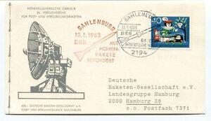 1963 Hohenflugversuche Cirrus B Sahlenburg Hohen Rakete Befordert Deutsche Space Apparence Brillante Et Translucide