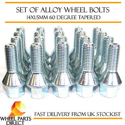 Aktiv Wheel Bolts (20) 14x1.5 Nuts Tapered For Audi Quattro 1980 To 1991