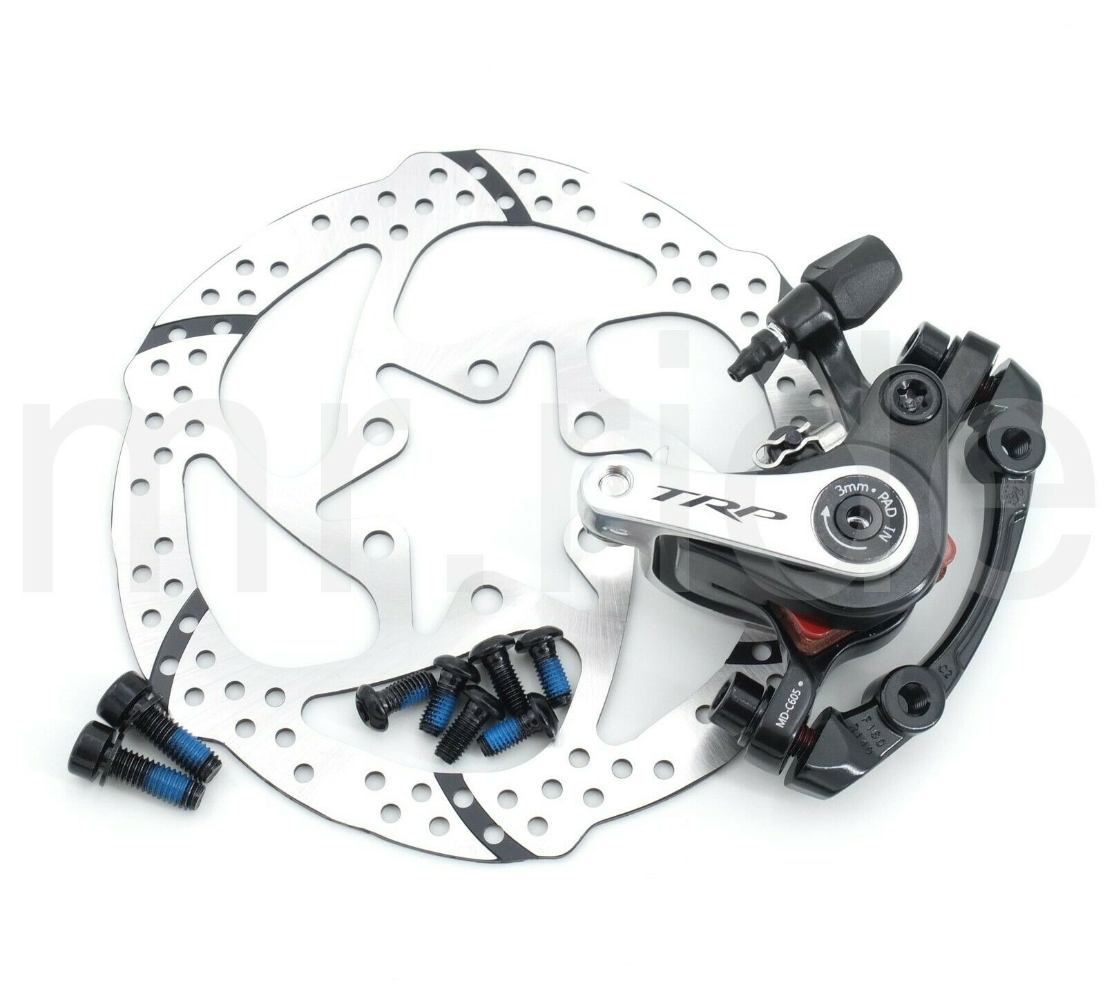 TRP Spyre Mechanical Rear Bike Disc Brake Caliper  w adapter+140mm redor  sale online discount