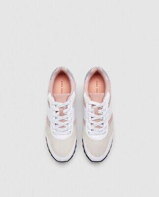 Zara Women Sneakers Contrasting Leather