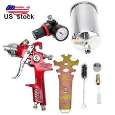 High Performance 1 4mm Hvlp Gravity Feed Spray Gun W Air Regulator Aluminum Cup