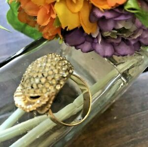 VINTAGE-WOMEN-039-S-GOLD-PLATED-RING-MARKED-039-IPC-039-size-4-5-GORGEOUS