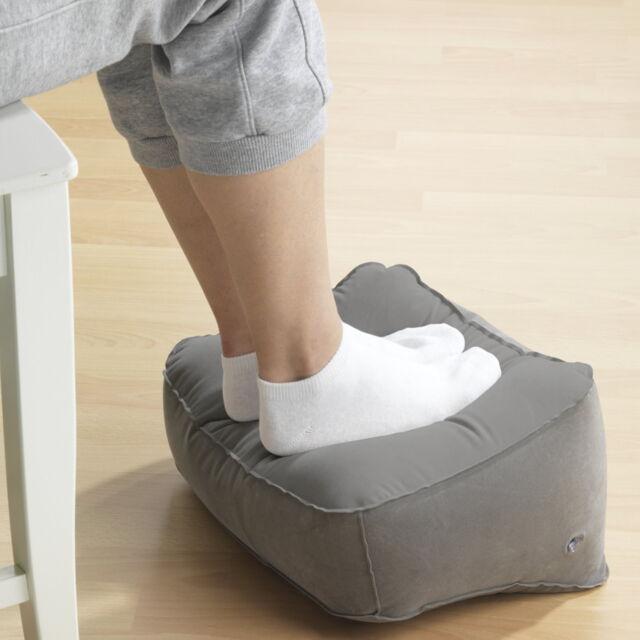 Wenko Fußkissen aufblasbar grau Fußstütze Fußhocker Fusskissen Fußablage Ablage