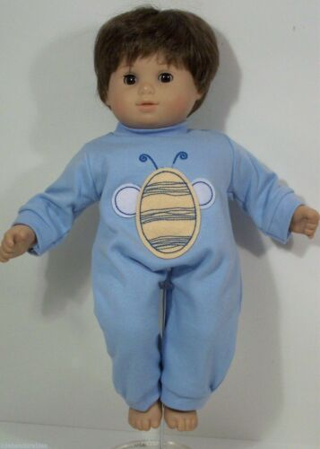 BLUE Romper w//Yellow Bumble Bee Doll Clothes For Bitty Baby Boy Debs