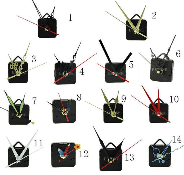 DIY Quartz Clock Movement Mechanism Hands Wall Repair Tool Kit Parts Silent Set
