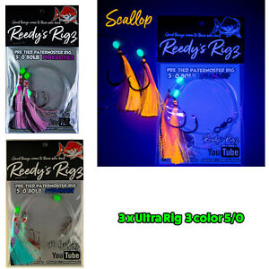 3x-Reedy-039-s-Ultra-Rig-The-Flasher-Rig-Killer-5-0-1-Each-Colour-Snapper-KingFish