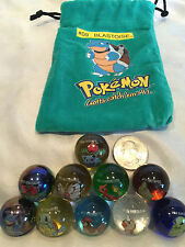 Mixed Lot Of 10 Collectible Vintage  Pokemon Glass Shooter Marbles Bag #12