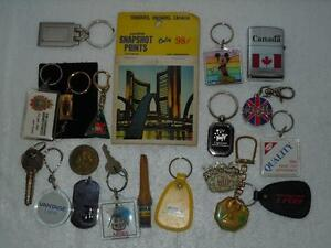 Keychain-amp-other-Vintage-Souvenir-Lot-of-20-Pieces-Disney-Company-Advertising